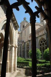 Detalle del claustro del Monasterio de Santes Creus