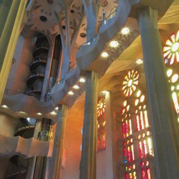 Luz interior en Sagrada Familia