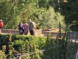 Puente de Ezcabarte en la etapa hacia Pamplona