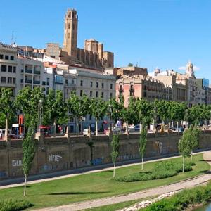 Vista general de Lleida y la Seu Vella