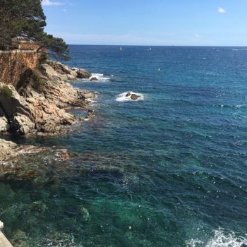 Clear water at Costa Brava