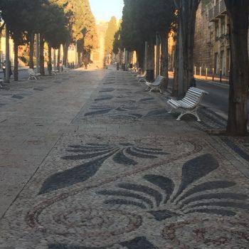 Mosaicos en la Via del Imperio Romano