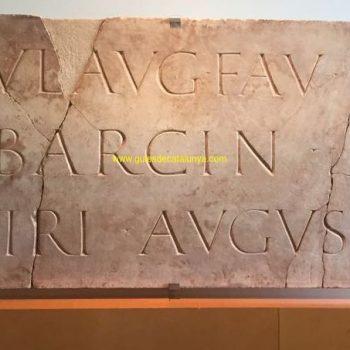 Lapida con la inscripción con el nombre de Barcino