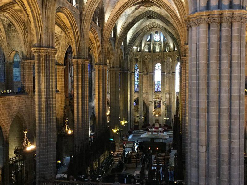 gotico catalan en la catedral de barcelona