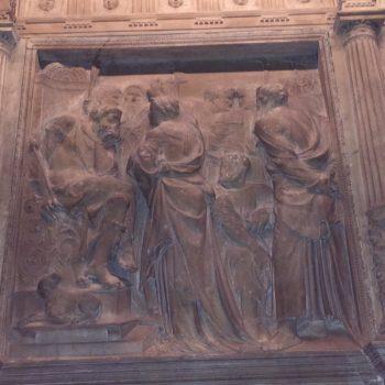 Trascoro de la catedral de Barcelona. Juicio a Santa Eulalia