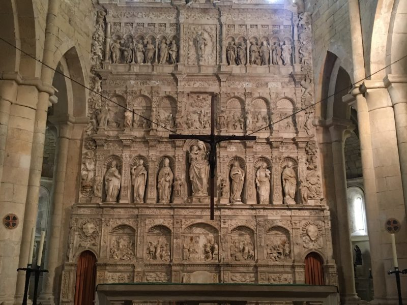 Altarpiece of Poblet with alabaster of Sarral
