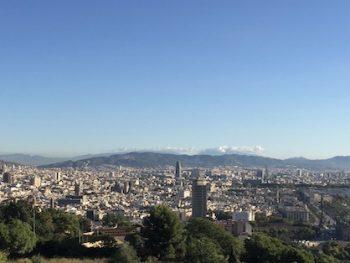 Vue panoramique de Barcelone pendant la visite guidée de découverte de Barcelona
