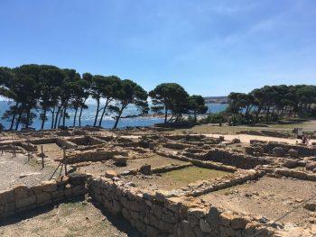 Yacimiento greco-romano de Ampúrias en Girona