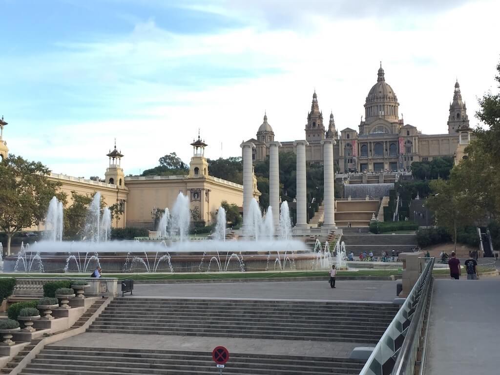 Visite guidée Montjuic - Place Espagne - Fontaine Magique - MNAC