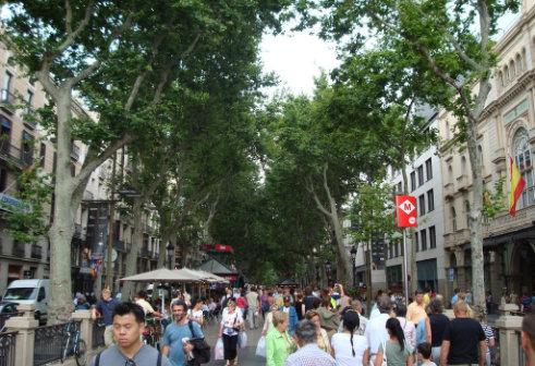 ランブラス通り バルセロナ